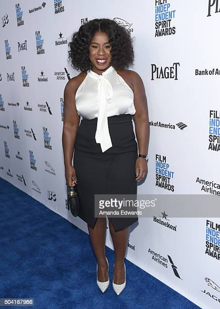 Host Uzo Adubo attends the 2016 Film Independent Filmmaker Grant and Spirit Award Nominees Brunch at BOA Steakhouse on January 9 2016 in West...