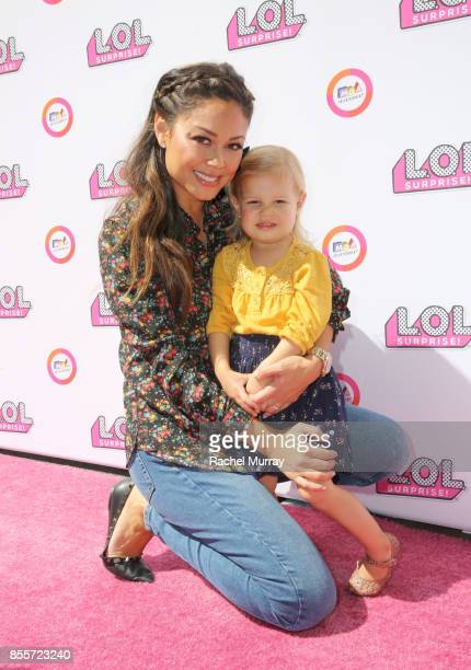 Host Vanessa Lachey and daughter Brooklyn Elisabeth Lachey attend the launch of LOL Surprise Big Surprise and world's first unboxing video booth on...