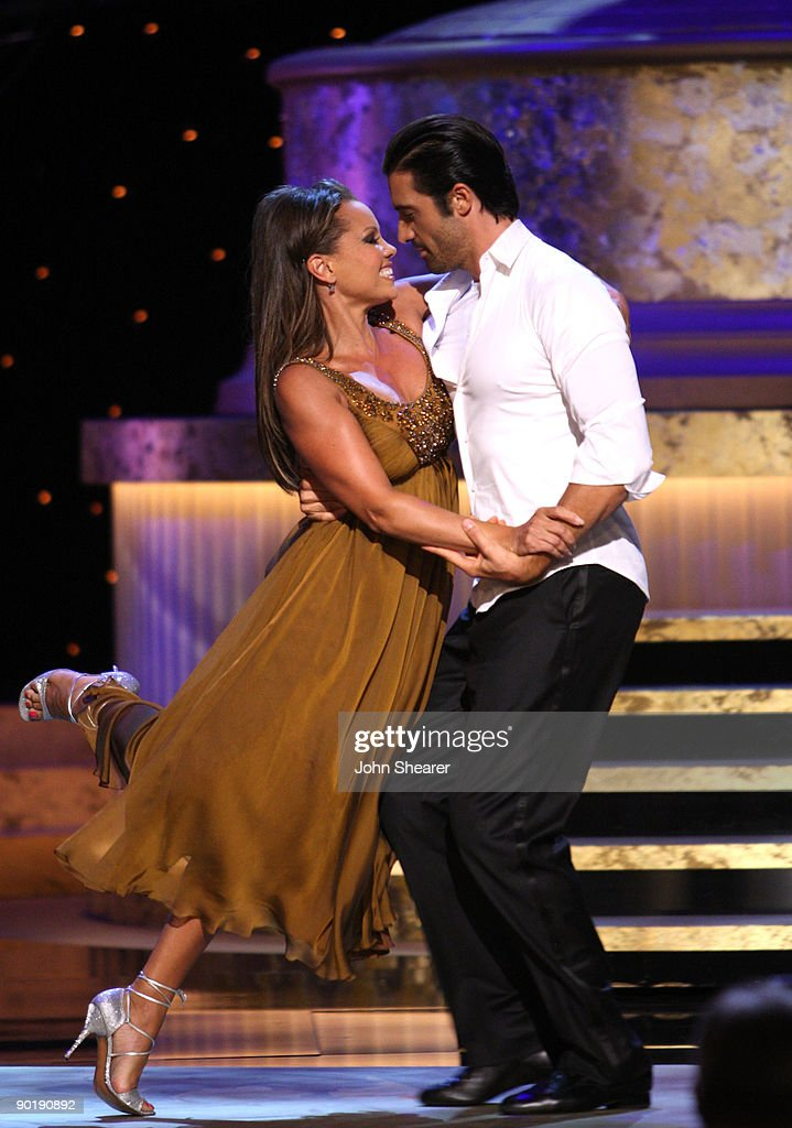 Host Vanessa Williams performs with dancer <a gi-track='captionPersonalityLinkClicked' href=/galleries/search?phrase=Gilles+Marini&family=editorial&specificpeople=5360860 ng-click='$event.stopPropagation()'>Gilles Marini</a> during the 36th Annual Daytime Emmy Awards at The Orpheum Theatre on August 30, 2009 in Los Angeles, California.