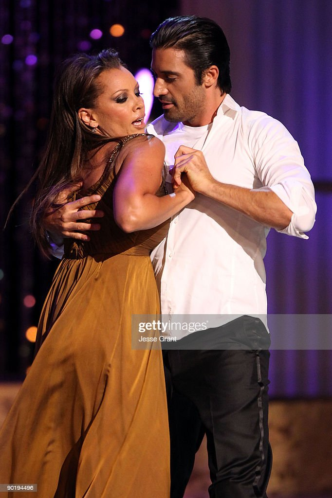 Host Vanessa Williams performs with dancer <a gi-track='captionPersonalityLinkClicked' href=/galleries/search?phrase=Gilles+Marini&family=editorial&specificpeople=5360860 ng-click='$event.stopPropagation()'>Gilles Marini</a> onstage at the 36th Annual Daytime Emmy Awards at The Orpheum Theatre on August 30, 2009 in Los Angeles, California.