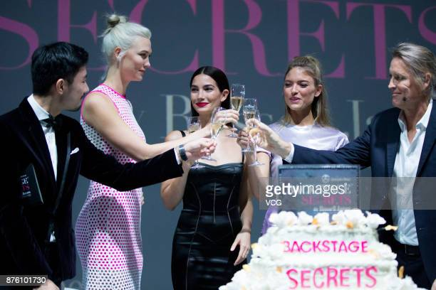 Host Victoria's Secret Angels Karlie Kloss and Lily Aldridge photographer Russell James Victoria's Secret Angel Martha Hunt attend MercedesBenz...