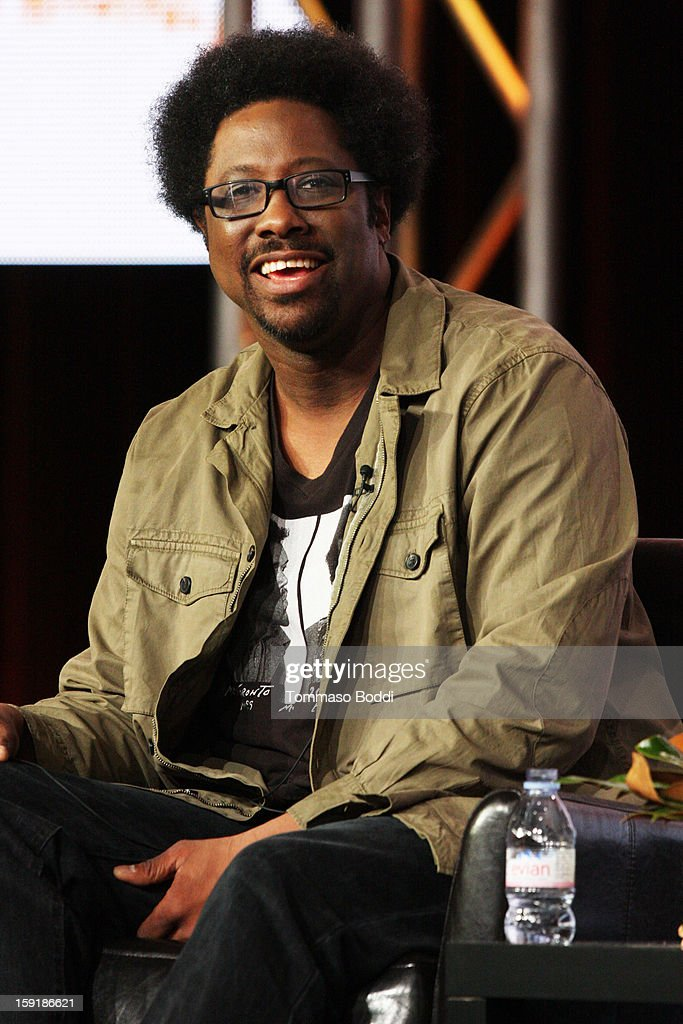 Host W. Kamau Bell of the television show 'Totally Biased with W. Kamau Bell' attends the TCA 2013 Winter Press Tour - FX panels held at The Langham Huntington Hotel and Spa on January 9, 2013 in Pasadena, California.