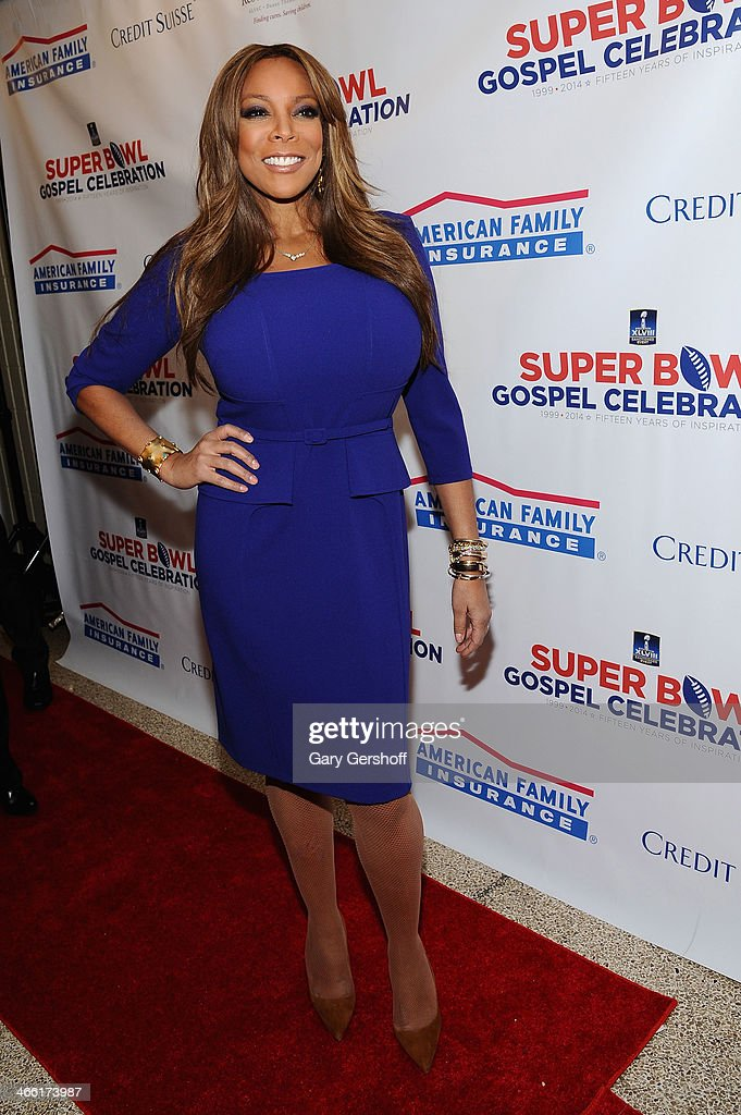 Host <a gi-track='captionPersonalityLinkClicked' href=/galleries/search?phrase=Wendy+Williams&family=editorial&specificpeople=4134023 ng-click='$event.stopPropagation()'>Wendy Williams</a> attends the Super Bowl Gospel Celebration 2014 on January 31, 2014 in New York City.