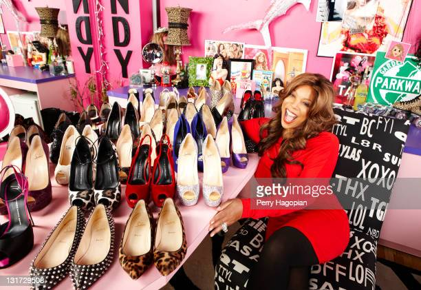 Host Wendy Williams is photographed in her dressing room for Us Weekly on August 2 2011 in New York City PUBLISHED IMAGE