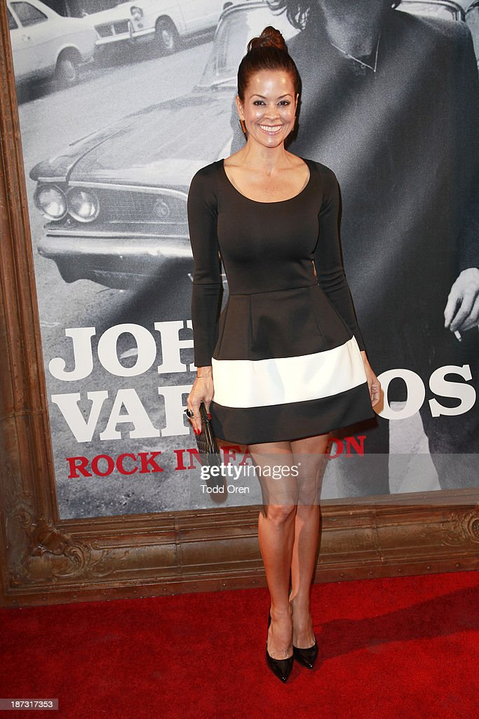 Host/actress Brooke Burke-Charvet arrives at the 'John Varvatos: Rock In Fashion book launch celebration held at John Varvatos Los Angeles on November 7, 2013 in Los Angeles, California.