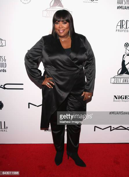 Host/comedian Loni Love attends the 2017 MakeUp Artists and Hair Stylists Guild Awards at The Novo by Microsoft on February 19 2017 in Los Angeles...