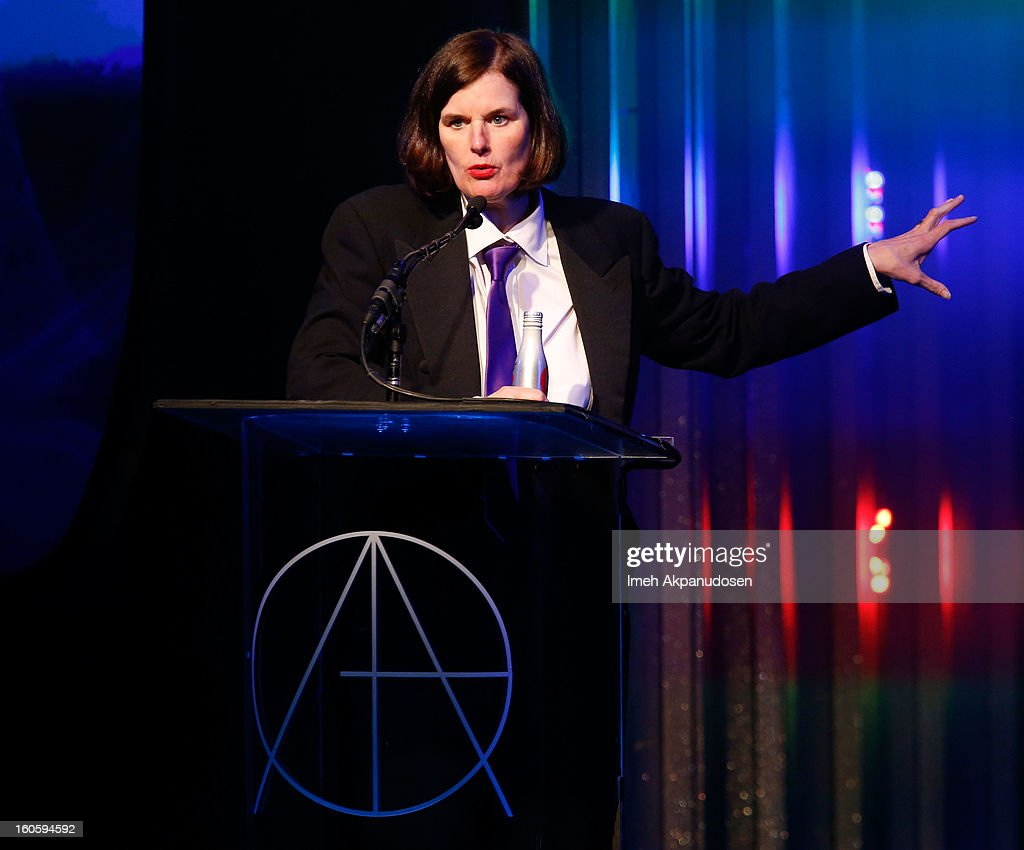 Host/comedian <a gi-track='captionPersonalityLinkClicked' href=/galleries/search?phrase=Paula+Poundstone&family=editorial&specificpeople=1018199 ng-click='$event.stopPropagation()'>Paula Poundstone</a> speaks onstage at the 17th Annual Art Directors Guild Awards, held at The Beverly Hilton Hotel on February 2, 2013 in Beverly Hills, California.