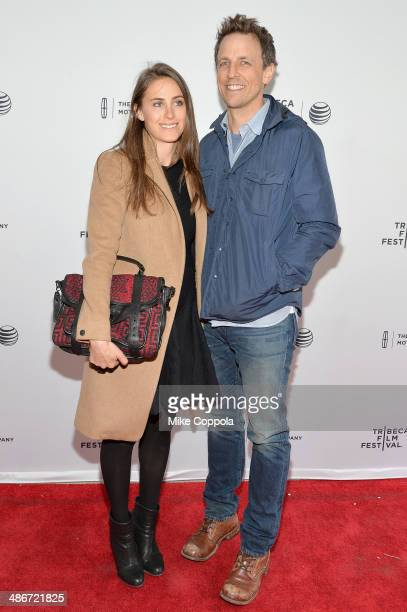 TV host/comedian Seth Meyers and Alexi Ashe attend the 'Sister' Premiere during the 2014 Tribeca Film Festival at the SVA Theater on April 25 2014 in...