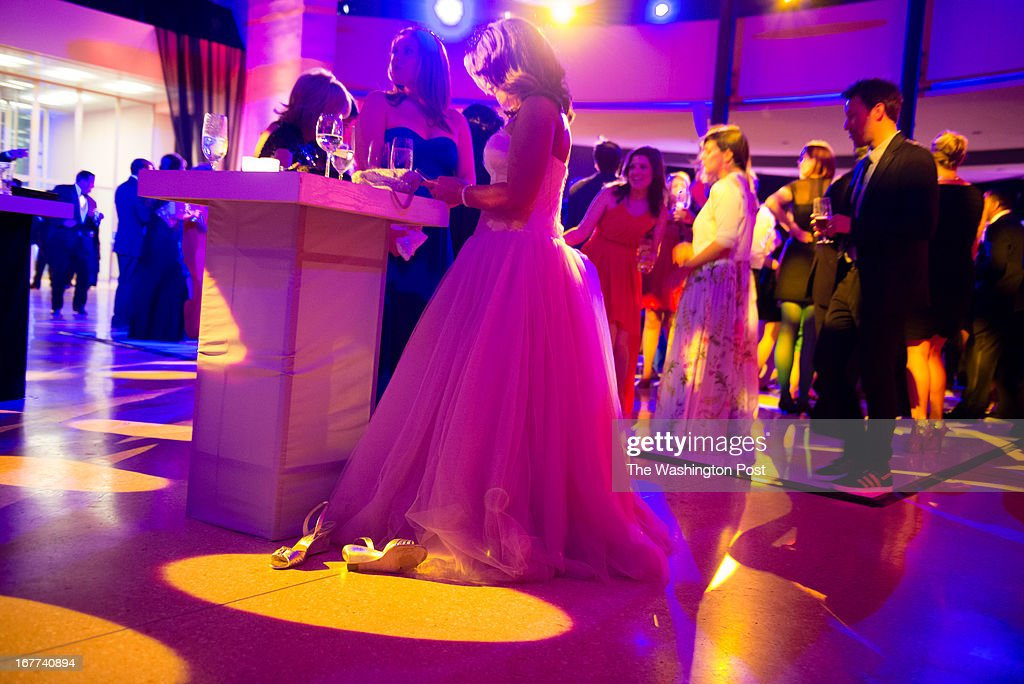 MSNBC hosted this after party following the White House Correspondents Dinner. At 2am people began taking off their shoes.