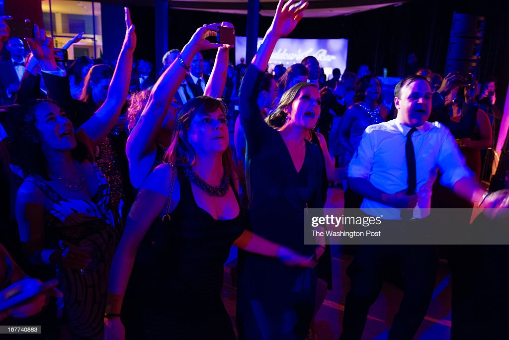 MSNBC hosted this after party following the White House Correspondents Dinner. The crowd went wild as Biz Markie sang one of his songs.