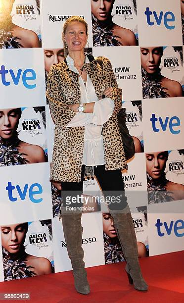 TV hostess Anne Igartiburu arrives to Alicia Keys concert at The Royal Theatre on January 18 2010 in Madrid Spain