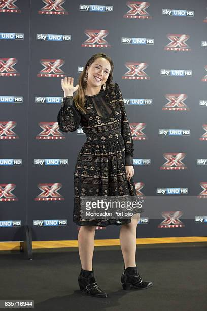 TV hostess Aurora Ramazzotti during the press conference of presentation of the first live episode of the talent show X Factor Milan Italy 26th...