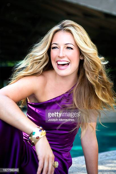 TV hostess Cat Deeley is photographed for You Magazine on August 26 2008 in Los Angeles California