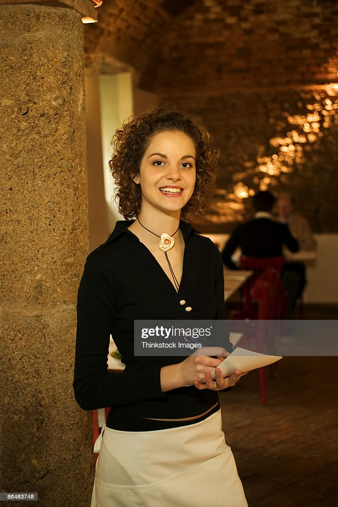 Hostess in restaurant