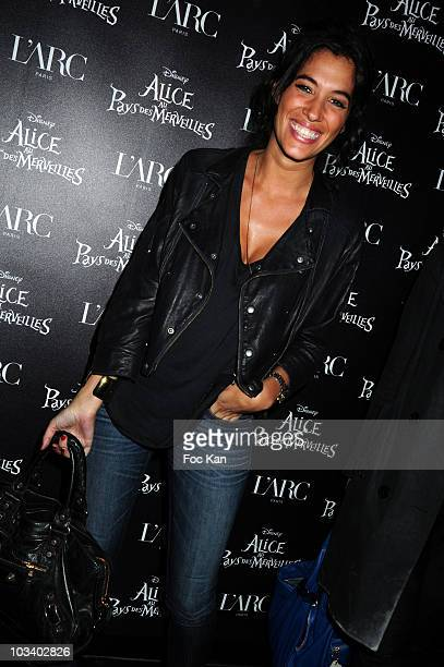 TV hostess Laurie Cholewa attends the 'Alice Au Pays des Merveilles' Celebration of the 4th Million Spectators at L'Arc Club on April 29 2010 in...