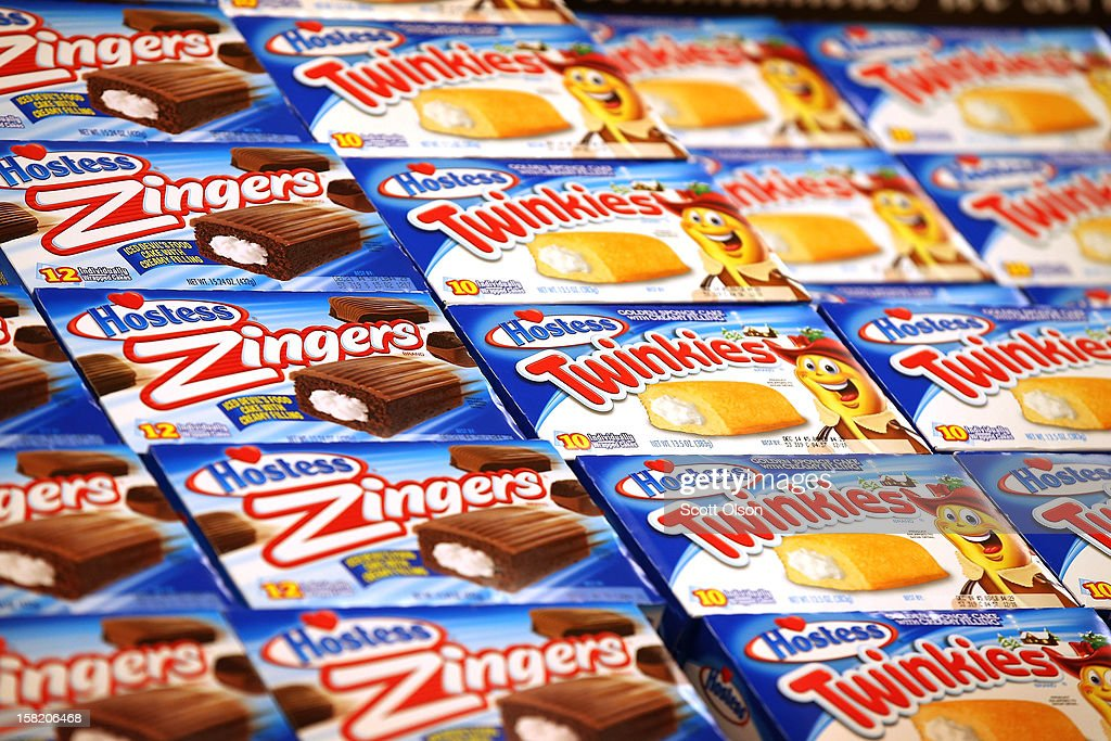 Hostess snacks are offered for sale at a Jewel-Osco grocery store on December 11, 2012 in Chicago, Illinois. The Jewel-Osco grocery store chain purchased the last shipment of 20,000 boxes of Hostess products and put them on sale in their stores throughout the Chicago area today. Hostess Brands Inc. shut down its baking operations and began liquidating assets last month after failing to negotiate a labor contract with Workers with the Bakery, Confectionery, Tobacco Workers and Grain Millers International Union