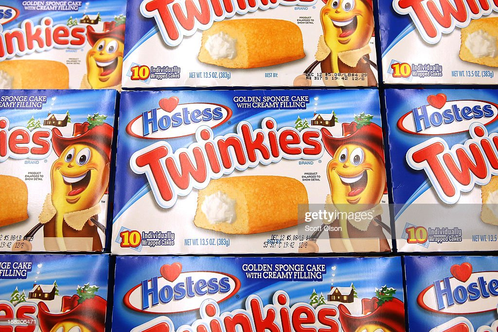 Hostess Twinkies are offered for sale at a Jewel-Osco grocery store on December 11, 2012 in Chicago, Illinois. The Jewel-Osco grocery store chain purchased the last shipment of 20,000 boxes of Hostess products and put them on sale in their stores throughout the Chicago area today. Hostess Brands Inc. shut down its baking operations and began liquidating assets last month after failing to negotiate a labor contract with Workers with the Bakery, Confectionery, Tobacco Workers and Grain Millers International Union
