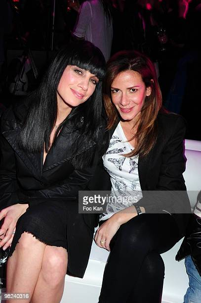TV hostesses Anne Gaelle Riccio and Elsa Fayer attend the Bar Refaeli Presents The Passionata Collection at the Espace Cambon on March 23 2010 in...