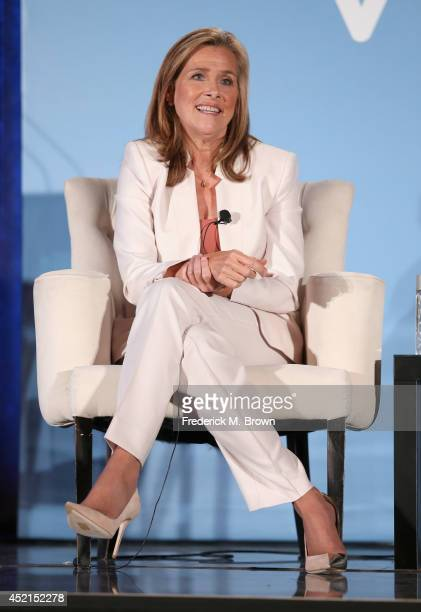 Host/Executive producer Meredith Vieira speaks onstage at the 'The Meredith Vieira Show' panel during the NBCUniversal portion of the 2014 Summer...