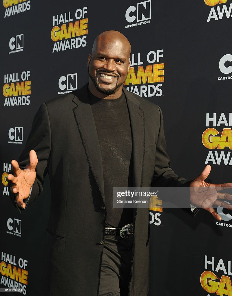 Host/former professional basketball player Shaquille O'Neal attends the Third Annual Hall of Game Awards hosted by Cartoon Network at Barker Hangar on February 9, 2013 in Santa Monica, California. 23270_002_SK_0829.JPG