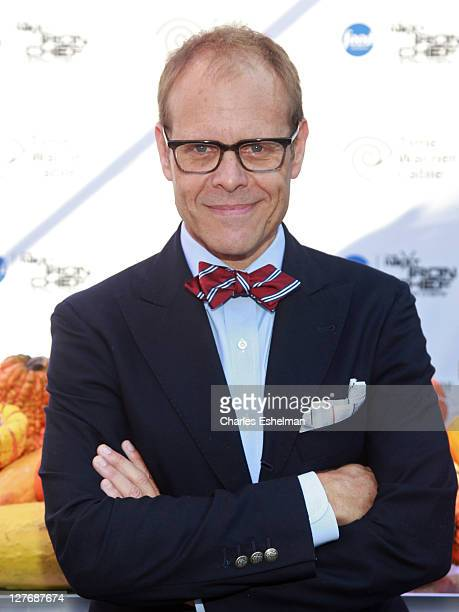 Host/judge Alton Brown attends the 'Next Iron Chef' interactive experience kickoff on the Streets of Manhattan on September 30 2011 in New York City