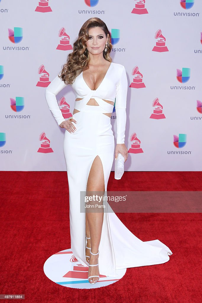 TV host/model Chiquinquira Delgado attends at the 16th Latin GRAMMY Awards at the MGM Grand Garden Arena on November 19, 2015 in Las Vegas, Nevada.