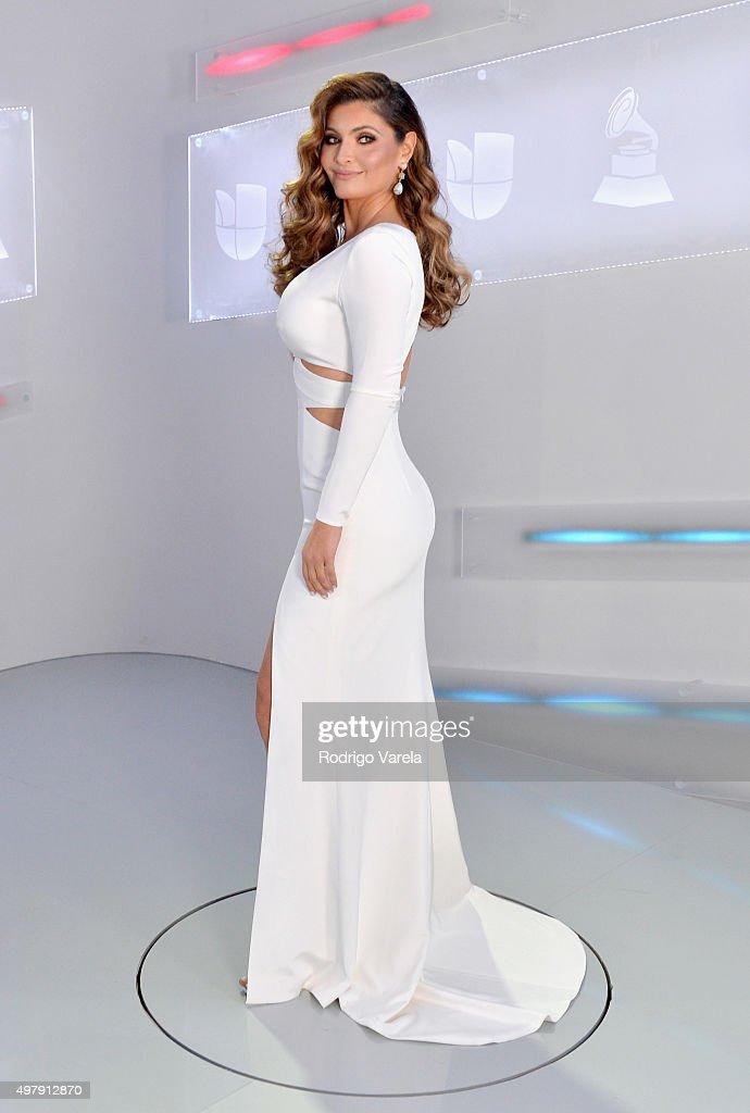 TV host/model Chiquinquira Delgado attends at the 16th Latin GRAMMY Awards at the MGM Grand Garden Arena on November 19 2015 in Las Vegas Nevada