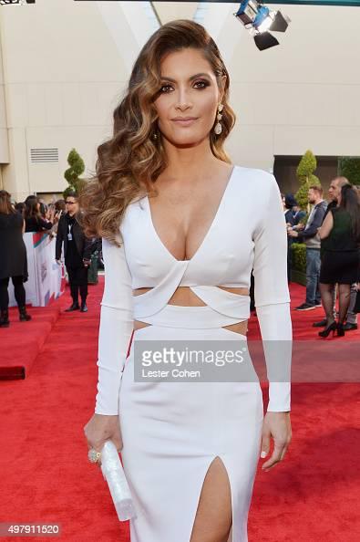 TV host/model Chiquinquira Delgado attends the 16th Latin GRAMMY Awards at the MGM Grand Garden Arena on November 19 2015 in Las Vegas Nevada