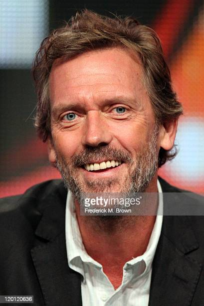 Host/musician Hugh Laurie speaks during the 'Great Performances 'Hugh Laurie Let Them Talk A Celebration of New Orleans Blues'' panel during the PBS...