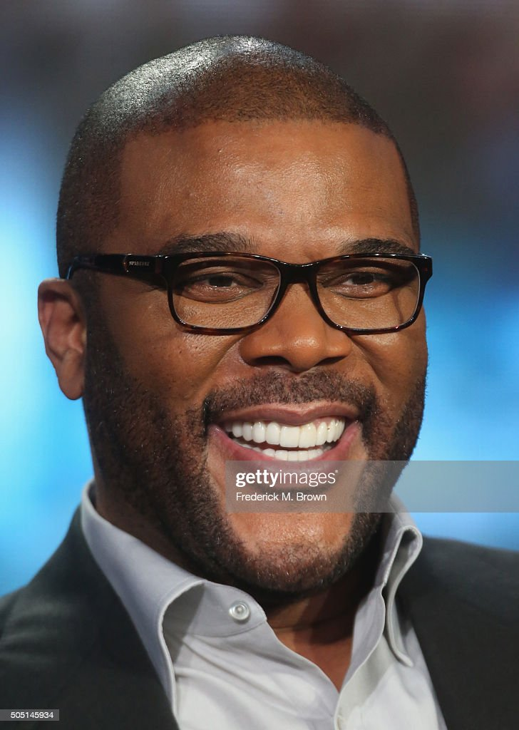 Host/Narrator Tyler Perry speaks onstage during 'The Passion' panel discussion at the FOX portion of the 2015 Winter TCA Tour at the Langham Huntington Hotel on January 15, 2016 in Pasadena, California