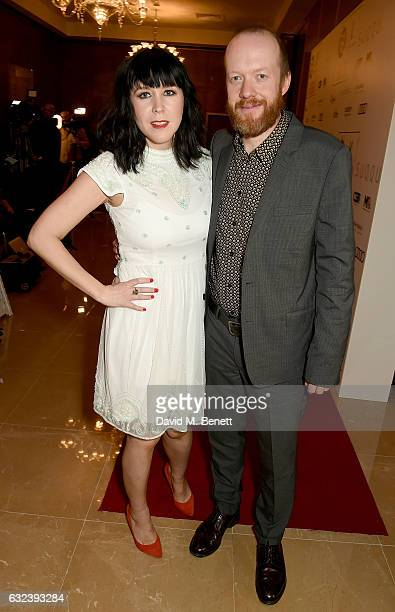 Hosts Alice Lowe and Steve Oram attend The London Critics' Circle Film Awards at the May Fair Hotel on January 22 2017 in London England