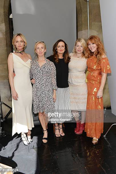 Hosts Amber Valletta Sam TaylorJohnson Lucy Yeomans Amanda de Cadenet and Charlotte Tilbury attend NETAPORTER Celebrates Women Behind The Lens at...