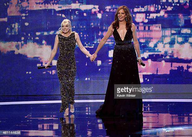 Hosts Anna Faris and Allison Janney speak onstage at The 41st Annual People's Choice Awards at Nokia Theatre LA Live on January 7 2015 in Los Angeles...