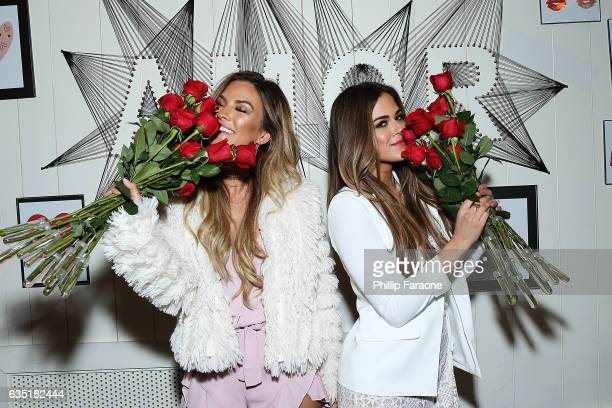 Hosts Becca Tilley and Jojo Fletcher attend Ryan Seacrest's Purse Party at The Bungalow Huntington Beach on February 13 2017 in Huntington Beach...