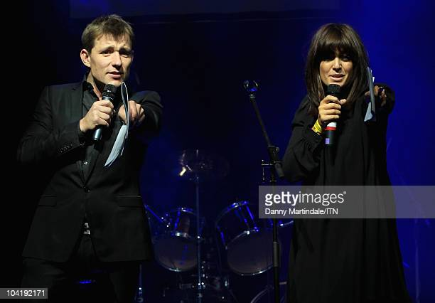 Hosts Ben Shephard and Claudia Winkleman on stage during Betfair's 'Newsroom's Got Talent' which raises funds for three charities Leonard Cheshire...