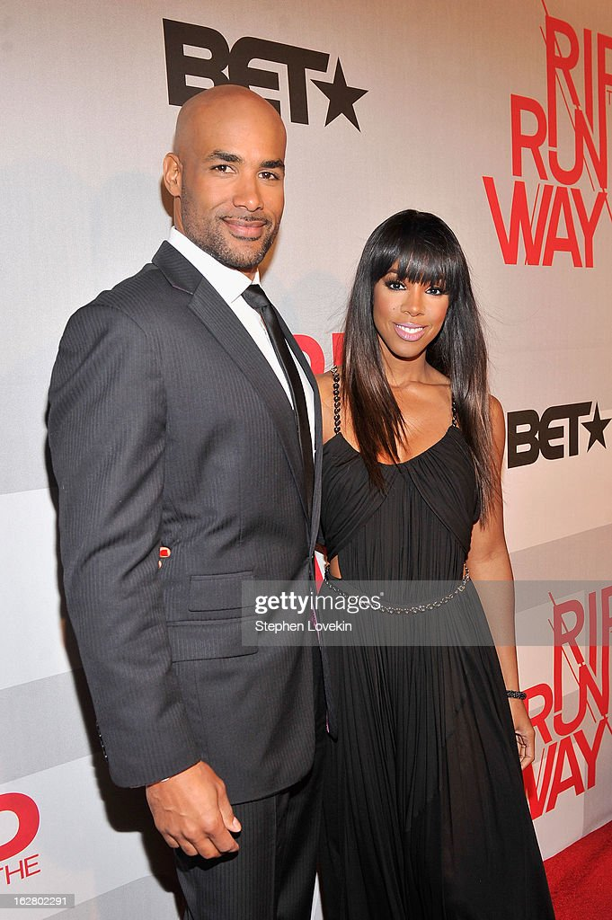 Hosts Boris Kodjoe and Kelly Rowland attend BET's Rip The Runway 2013:Red Carpet at Hammerstein Ballroom on February 27, 2013 in New York City.