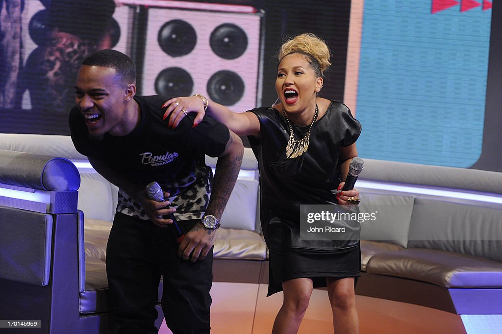Hosts Bow Wow and Adrienne Bailon at BET's '106 & Park' at BET Studios on June 5, 2013 in New York City.