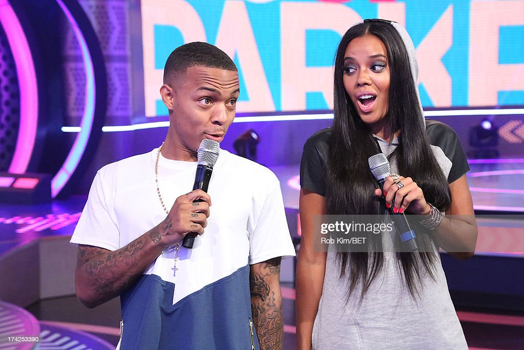 Hosts <a gi-track='captionPersonalityLinkClicked' href=/galleries/search?phrase=Bow+Wow+-+Rapper&family=editorial&specificpeople=211211 ng-click='$event.stopPropagation()'>Bow Wow</a> and <a gi-track='captionPersonalityLinkClicked' href=/galleries/search?phrase=Angela+Simmons&family=editorial&specificpeople=653461 ng-click='$event.stopPropagation()'>Angela Simmons</a> at BET's 106 and Park at BET Studios on July 22, 2013 in New York City.