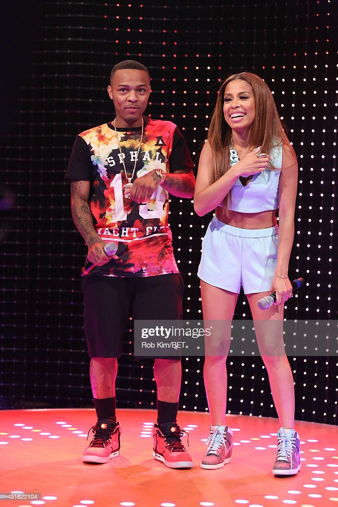 Hosts <a gi-track='captionPersonalityLinkClicked' href=/galleries/search?phrase=Bow+Wow+-+Rapper&family=editorial&specificpeople=211211 ng-click='$event.stopPropagation()'>Bow Wow</a> and Keshia Chante at BET's 106 & Park at BET studios on July 1, 2014 in New York City.