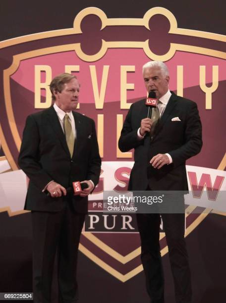Hosts David Frei and John O'Hurley at the Annual Kennel Club of Beverly Hills Dog Show at Pomona Fairplex on March 4 2017 in Pomona California