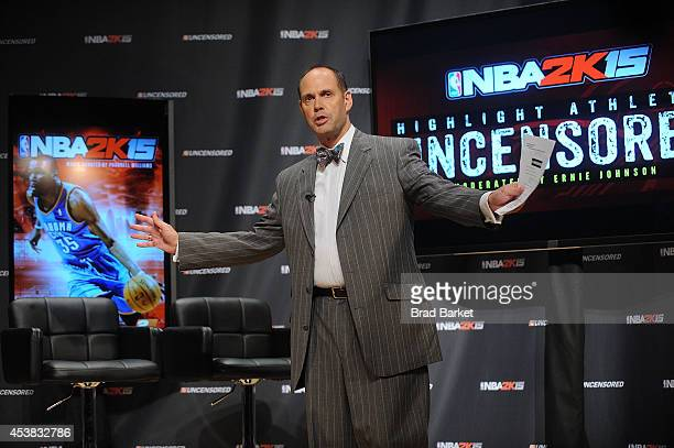 Hosts Ernie Johnson attends a NBA 2K15 Uncesored roundtable discussion at Baruch College on August 19 2014 in New York City Visit...