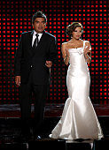 Hosts George Lopez and Eva Longoria Parker speak onstage at the 2009 ALMA Awards held at Royce Hall on September 17 2009 in Los Angeles California