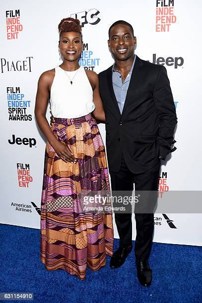 Hosts Issa Rae and Sterling K Brown attend the 2017 Film Independent Filmmaker Grant and Spirit Award Nominees Brunch at BOA Steakhouse on January 7...
