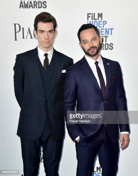 Hosts John Mulaney and Nick Kroll attend the 2017 Film Independent Spirit Awards at the Santa Monica Pier on February 25 2017 in Santa Monica...