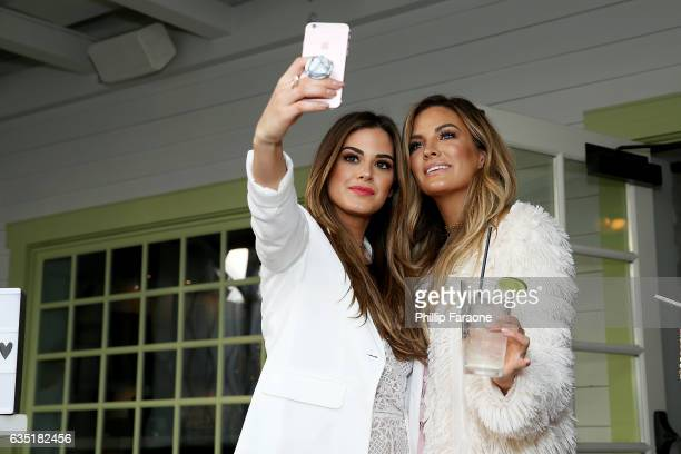 Hosts Jojo Fletcher and Becca Tilley attend Ryan Seacrest's Purse Party at The Bungalow Huntington Beach on February 13 2017 in Huntington Beach...