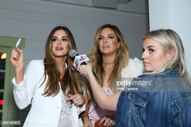 Hosts Jojo Fletcher Becca Tilley and radio personality Tanya Rad attend Ryan Seacrest's Purse Party at The Bungalow Huntington Beach on February 13...