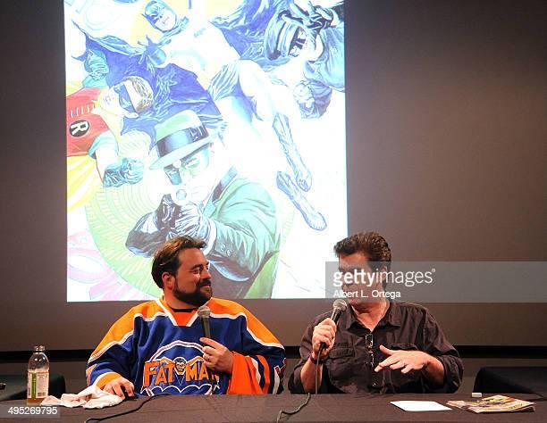 Hosts Kevin Smith and Ralph Garman at the 'Batman 66 Meets The Green Hornet' Comic Book Kickoff Fatman On Batman Live Podcast With Kevin Smith And...