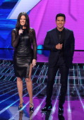Hosts Khloe Kardashian Odom and Mario Lopez onstage at FOX's 'The X Factor' Season 2 Top 12 Live Performance Show on November 7 2012 in Hollywood...