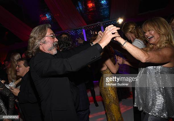 Hosts Kurt Russell and Goldie Hawn dance at her inaugural 'Love In For Kids' benefiting the Hawn Foundation's MindUp program transforming children's...