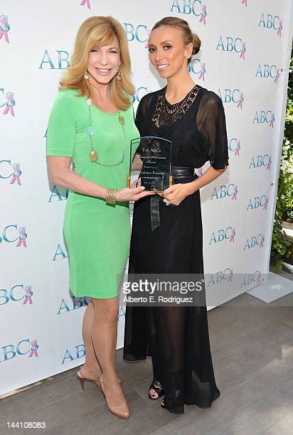 TV hosts Leeza Gibbons and Giuliana Rancic attend The Associates for Breast and Prostate Cancer Studies' Mother's Day Luncheon at Four Seasons Hotel...